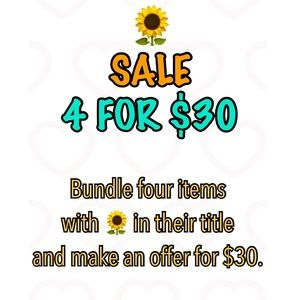 Other - 🌻 4 for $30 sale (50+ items)